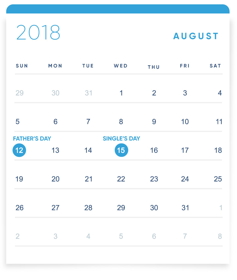 EBANX Holiday Calendar August
