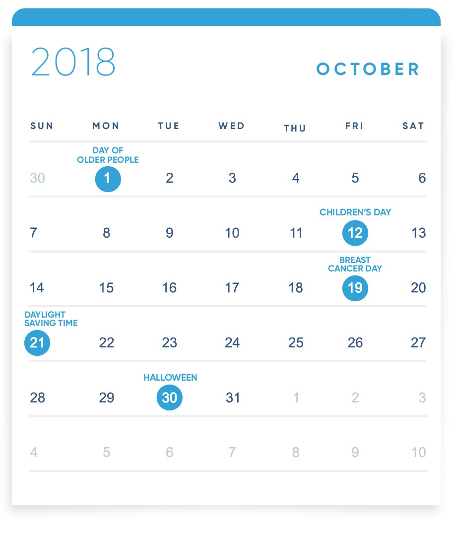 EBANX Holiday Calendar October