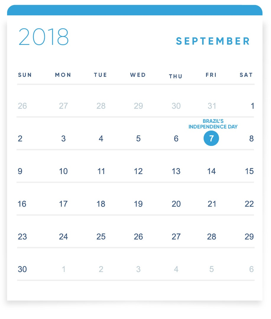 EBANX Holiday Calendar September