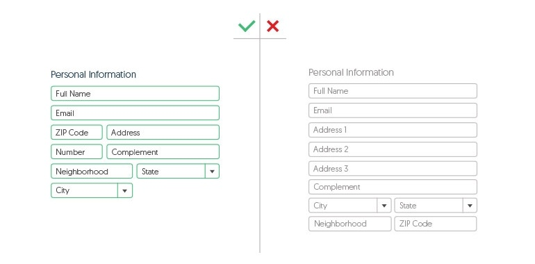 reduce number of checkout fields