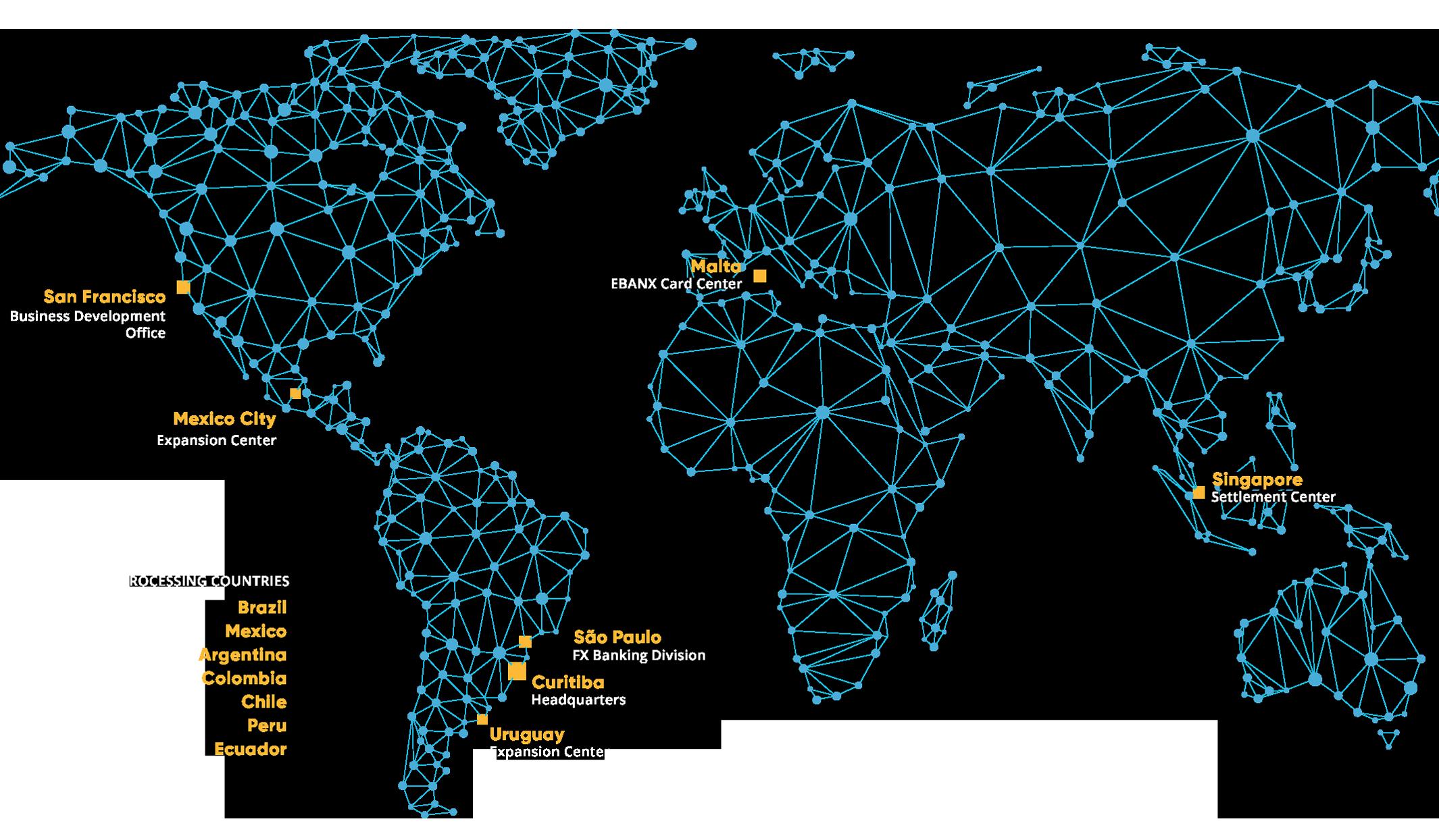 EBANX Offices Around the World