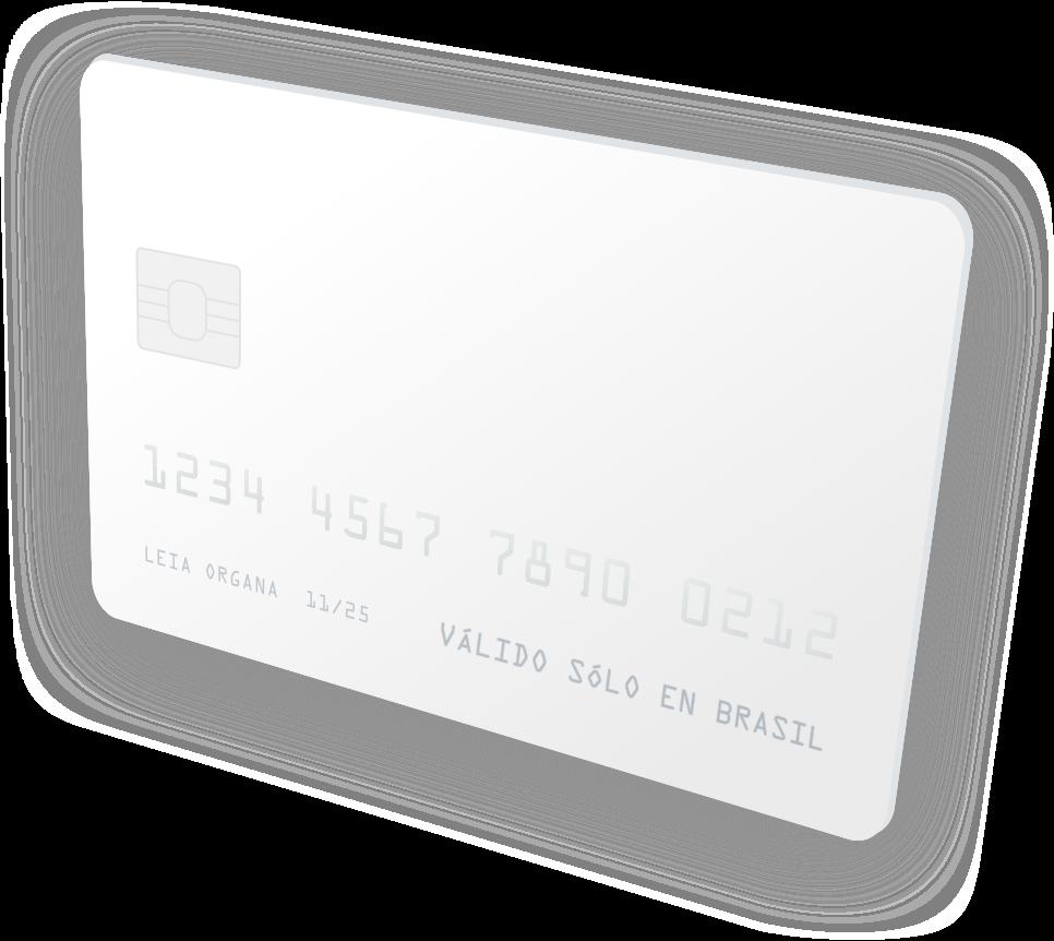 Tarjeta de crédito válida solo en Brasil