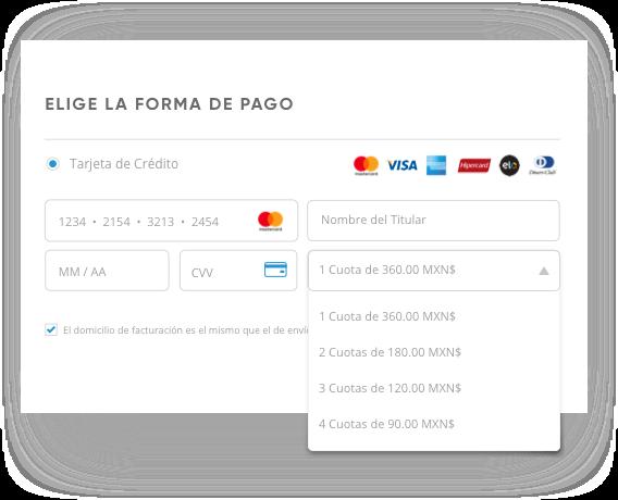 Cuotas en Tarjetas de Credito