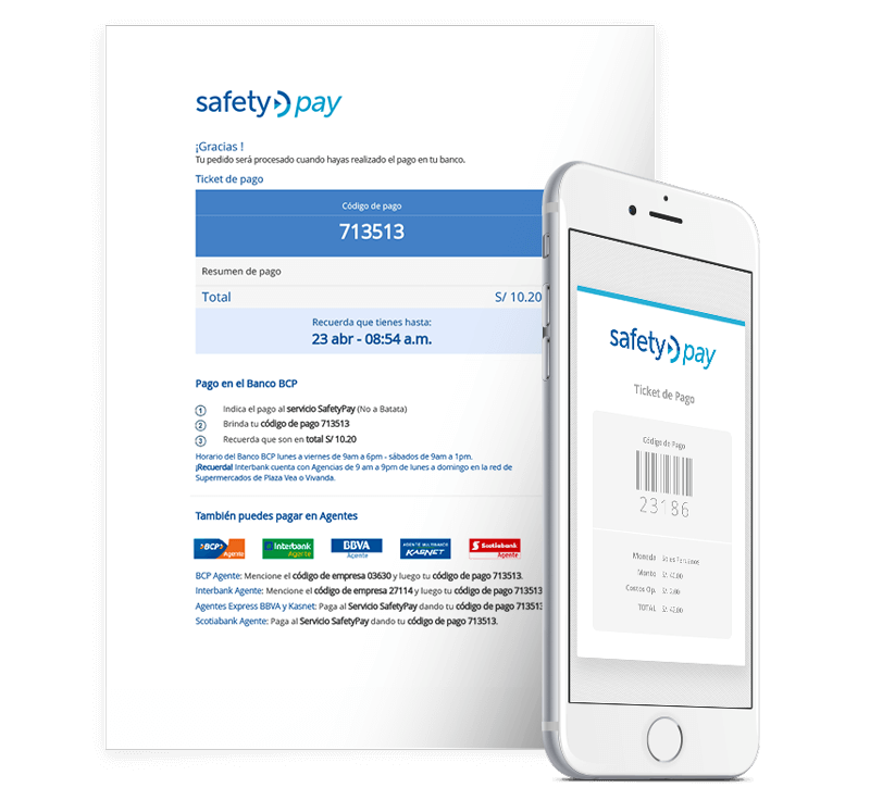 SafetyPay in Peru via EBANX