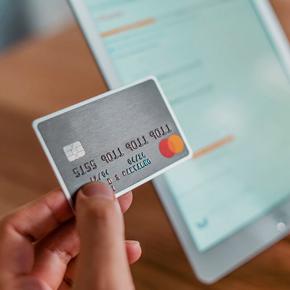 Detail of credit card