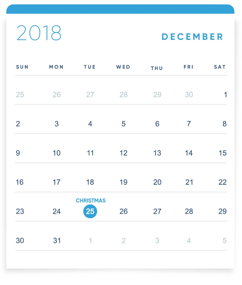EBANX Holiday Calendar December