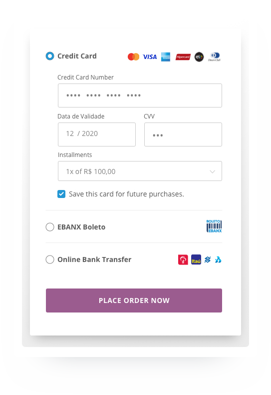EBANX WooCommerce Checkout